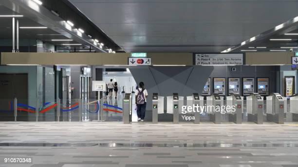 Entrance & exit in MRT station