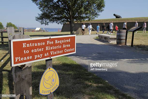 Entrance fee sign at Fort McHenry National Monument and Historic Shrine