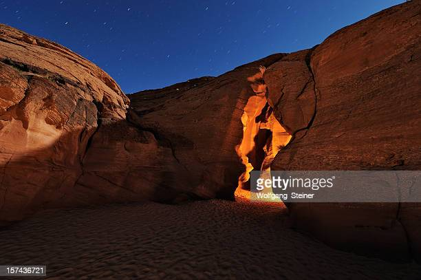 Entrance from the Upper Antelope Canyon at full moon
