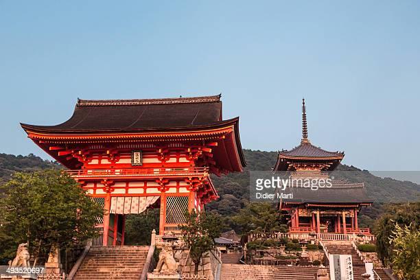 CONTENT] Entrance gate at sunset of the Kiyomizudera temple in Kyoto Kansai Japan