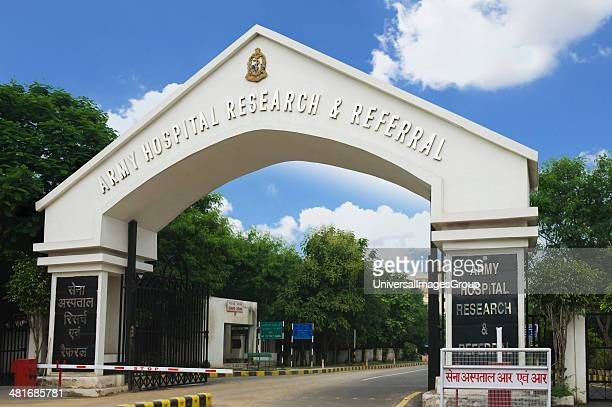 Entrance gate of a hospital Army Hospital Research And Referral New Delhi India