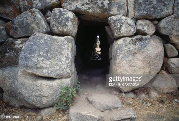 Entrance gate of the Nuraghe Majori, near Tempio Pausania, Valle della Luna, Sardinia, Italy. Nuragic civilization, 2nd millennium BC.