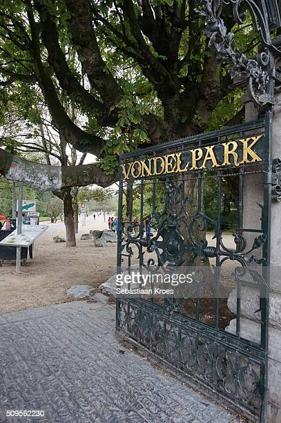 Entrance Gate of the Vondel Park, Amsterdam, the Netherlands