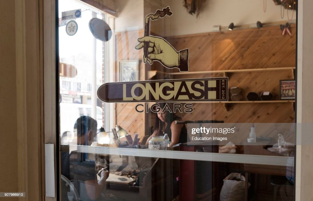 Entrance Glass Door To The Longash Cigar Making Store In Ybor City