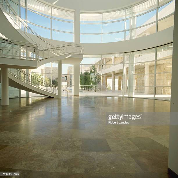 Entrance Hall and Rotunda at Getty Center Museum