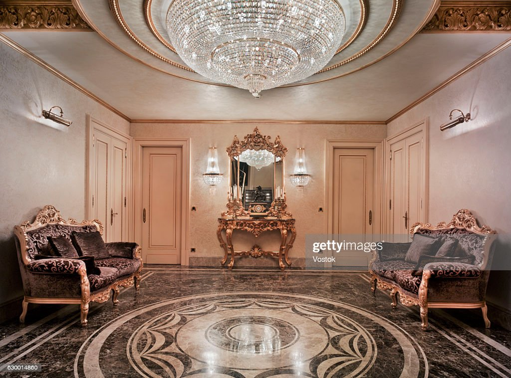 Entrance hall in the luxury house : Stock Photo