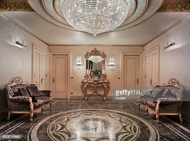 entrance hall in the luxury house - palazzo reale foto e immagini stock