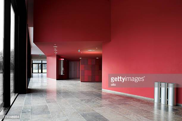 entrance hall with lockers and public phone at the university - entrance hall stock pictures, royalty-free photos & images