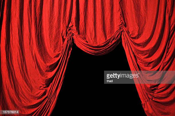 entrance in red velvet - crushed leaves stock pictures, royalty-free photos & images