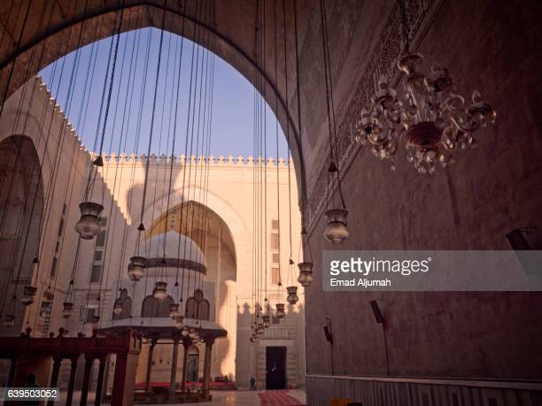 Entrance in the Sultan Hassan Mosque and Madrasa, Cairo, Al Qahirah, Egypt