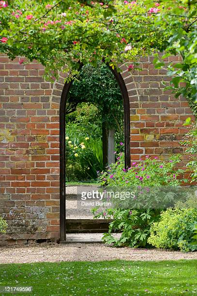 Entrance into walled cottage garden