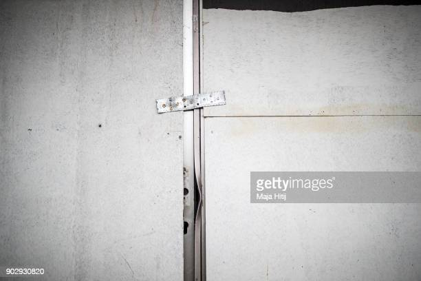 Entrance is shut in an abandoned house on January 9 2018 in Immerath Germany The village of Immerath will be completely razed in order to make way...