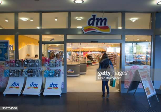 Entrance of a drugstore market branch in Bonn