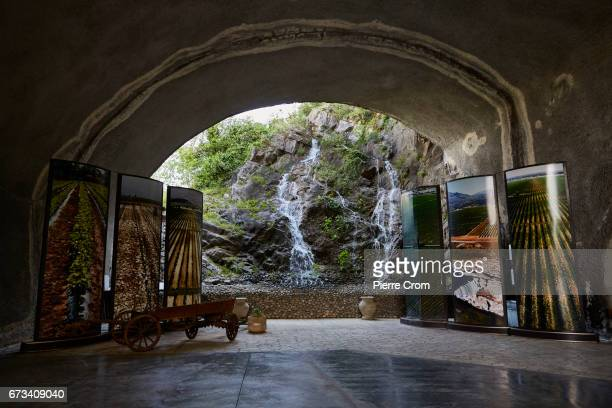 Entrance of a wine cellar located in a former military base in the stateowned winery Plantaze on April 26 2017 in Podgorica Montenegro Russia has...