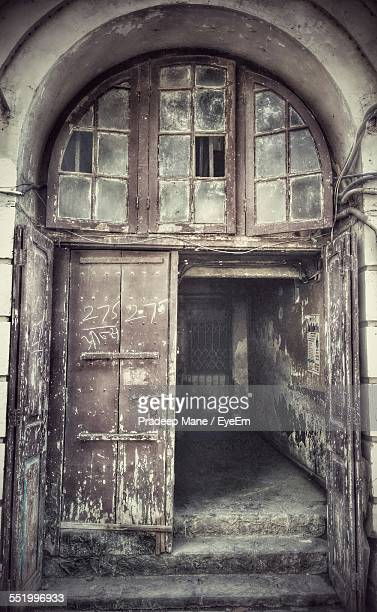 Entrance Of Abandoned Building