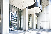 Entrance of an office building, Frankfurt, Germany