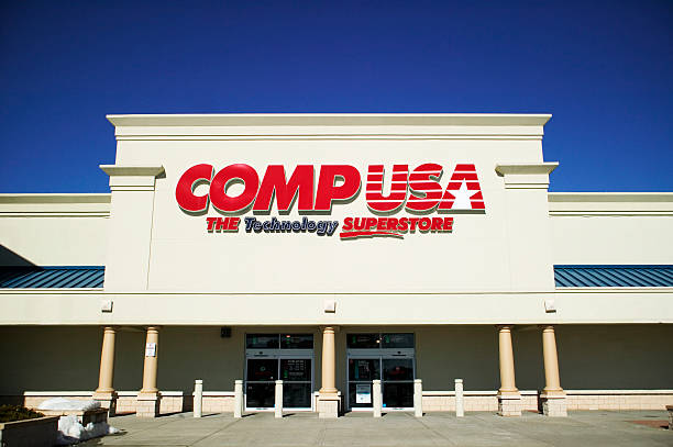 Entrance of CompUSA Technology Superstore