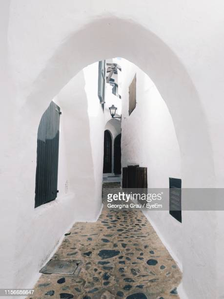 entrance of historic building - whitewashed stock photos and pictures