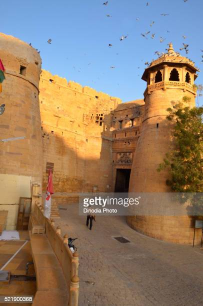 Entrance of Jaisalmer Fort, Rajasthan, India, Asia