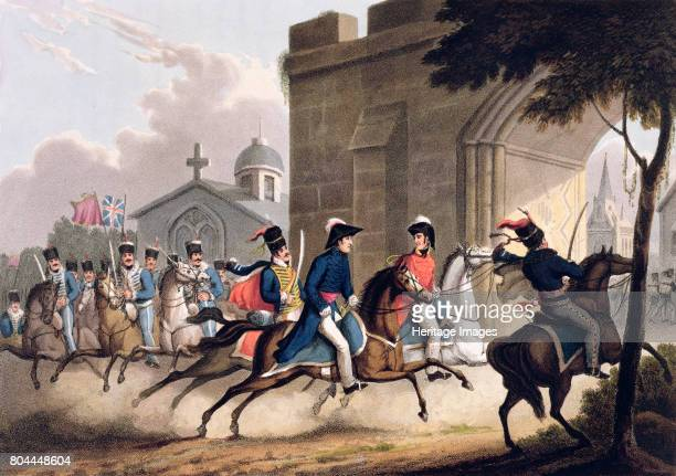Entrance of Lord Wellington into Salamanca at the head of a Regiment of Hussars, May 20th 1813' 1815. Scene during Wellington's final, decisive...