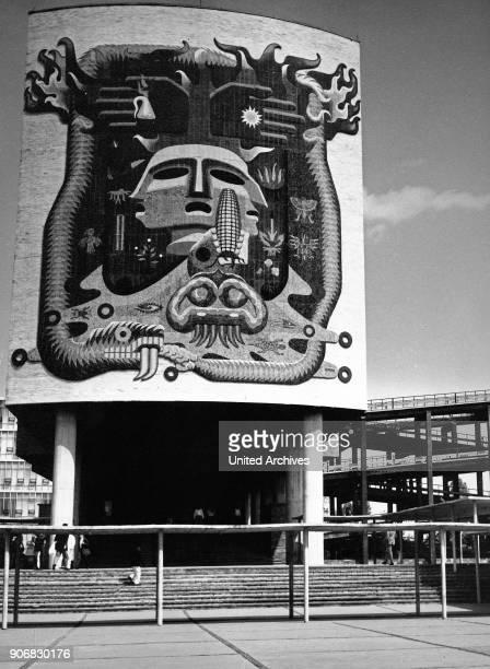Entrance of Mexico University 1970s