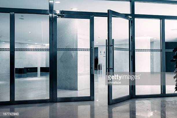 entrance of modern architecture - entrance stock pictures, royalty-free photos & images