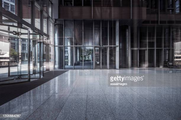entrance of modern building - column stock pictures, royalty-free photos & images