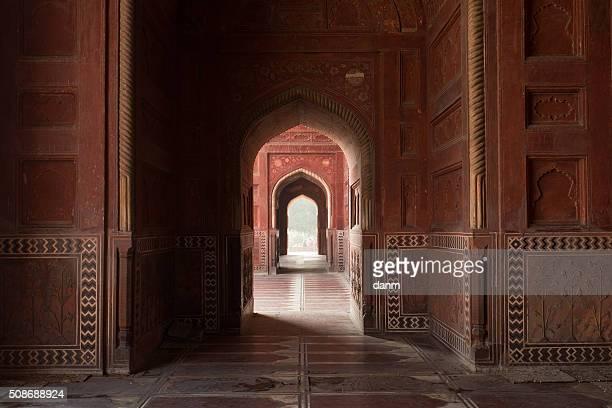 Entrance of muslim mosque near to Taj Mahal Mausoleum