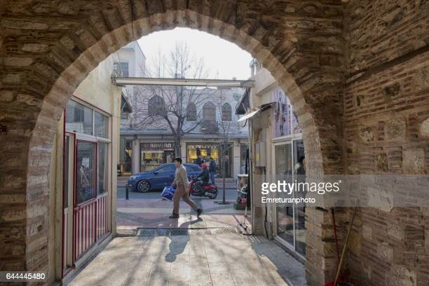 "entrance of ""new inn"" in manisa. - emreturanphoto stock pictures, royalty-free photos & images"