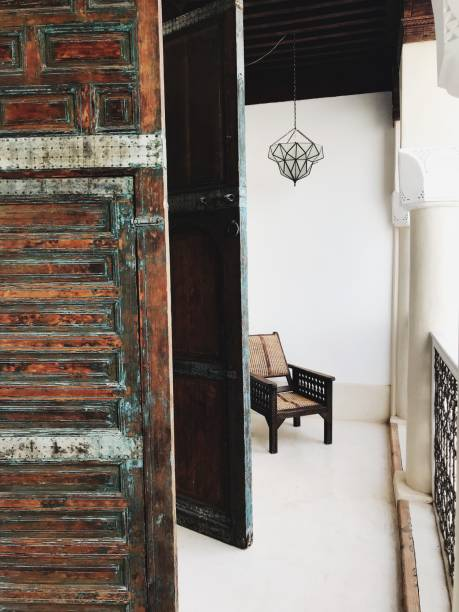 Entrance Of Old Building In Marrakech
