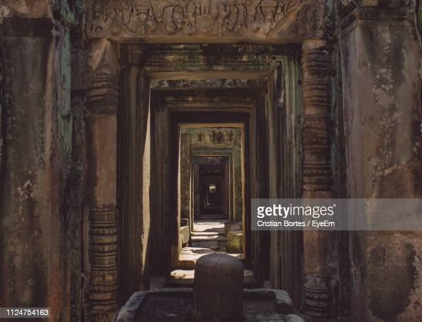 entrance of old building - bortes stock pictures, royalty-free photos & images