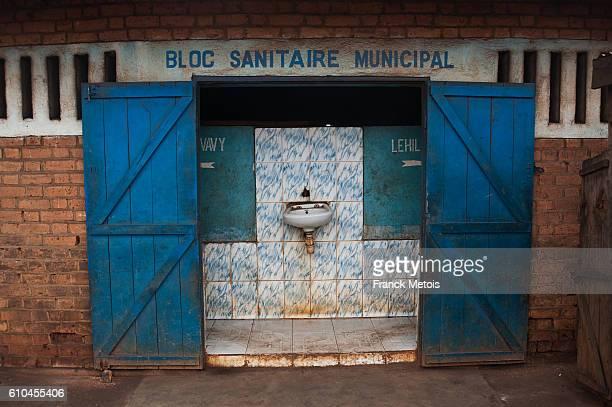 Entrance of public toilets ( Madagascar)