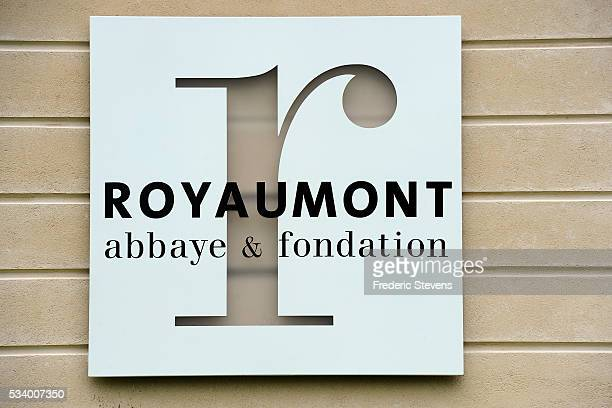 Entrance of Royaumont abbey on May 24 2016 in AsnieresSurOise France The Royaumont foundation is undertaking extensive construction work to refurbish...