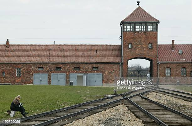 Entrance of the concentration camp Auschwitz Birkenau
