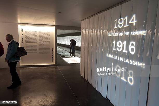 Entrance of the hall of the new WW1 Thiepval Visitor and Interpretation museum division opened on the Centenary Of The Battle Of The Somme on June 3,...