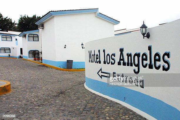 Entrance of the hotel Los Angeles in downtown Puerto Vallarta Mexico 19 June 2003 where the fugitive heir to the Max Factor cosmetics fortune Andrew...