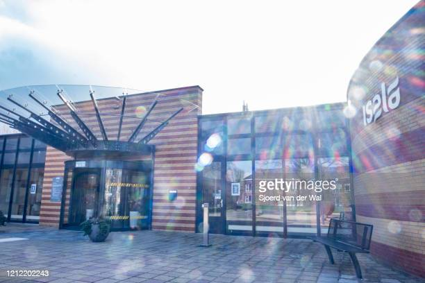 Entrance of the Isala polyclinic hospital on March 13,2020 in Kampen, Netherlands.The government has advised citizens to stay at home if you have a...