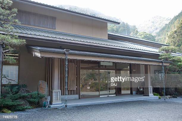 Entrance of the Japanese inn, side view, Japan