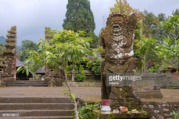 Entrance of the Pura Luhur Batukaru, Hindu temple in Tabanan on the southern slope of Mount Batukaru, volcano on the island Bali, Indonesia.