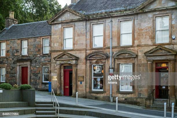 Entrance of the West Highland Museum in the High Street of Fort William Scottish Highlands Scotland UK