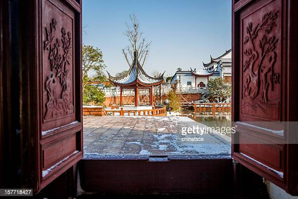 entrance of  traditional Chinese ancient buildings