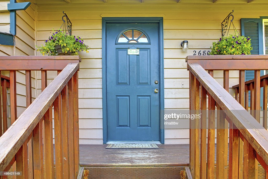 ... Entrance porch with blue door ... & Free blue door Images Pictures and Royalty-Free Stock Photos ...
