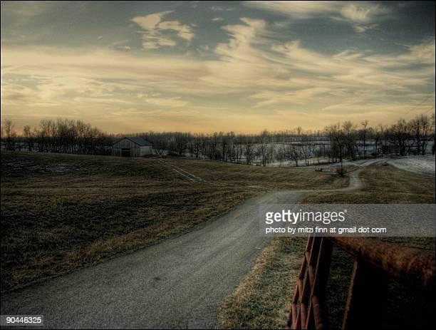 Entrance road  of farm