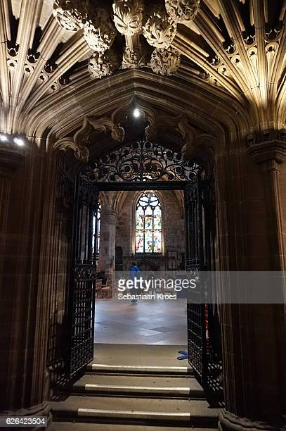 entrance thistle chapel, edinburgh, united kingdom - st. giles cathedral stock pictures, royalty-free photos & images
