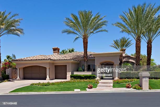 Entrance to a beautiful Californian home exterior