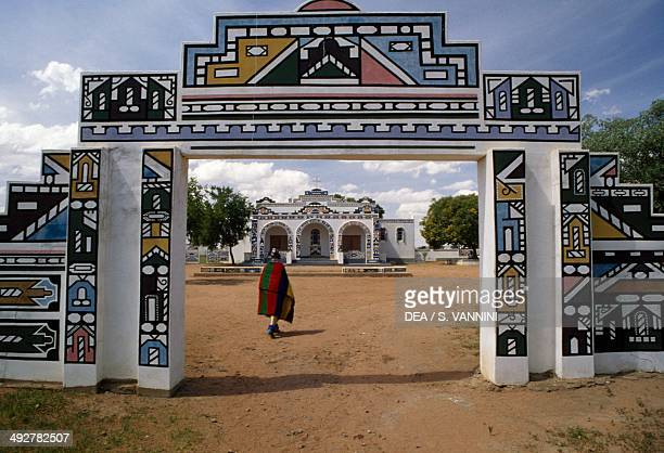 Entrance to a Ndebele village South Africa