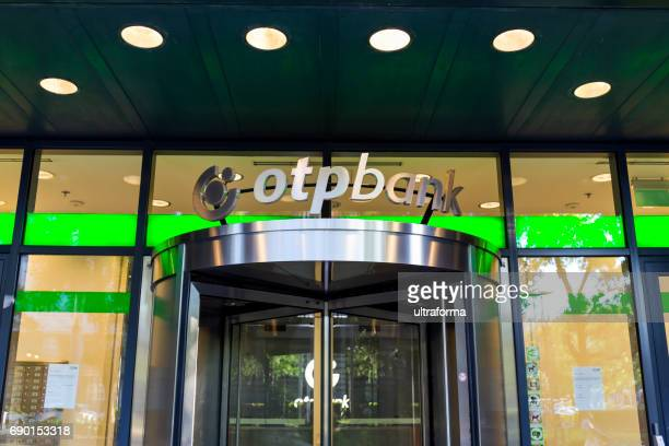 Entrance to a OTPBANK branch in Budapest