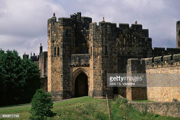 Entrance to Alnwick Castle Northumberland England United Kingdom 11th century