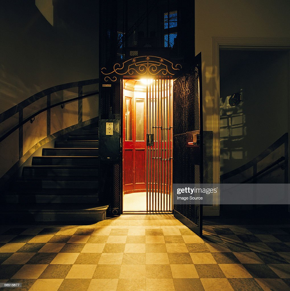Entrance to an elevator : ストックフォト