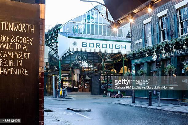 Entrance to Borough market, London, England
